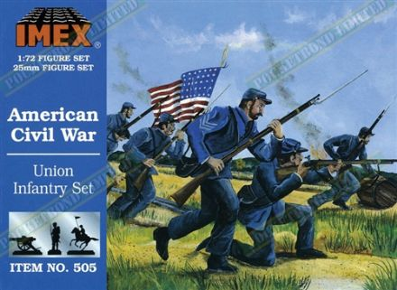 IMEX505 American Civil War Union Infantry Set 1:72 Scale